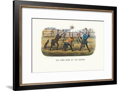 ART PRINT First Bird of the Season Currier and Ives