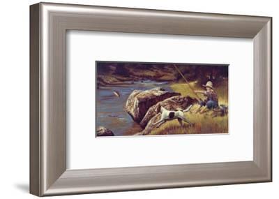 First Catch-Jim Daly-Framed Art Print