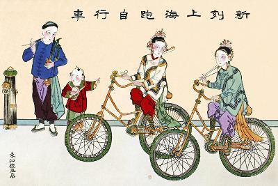 First Chinese Bicycles-Sheila Terry-Photographic Print