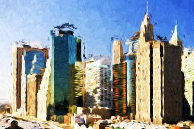 First City - In the Style of Oil Painting-Philippe Hugonnard-Giclee Print