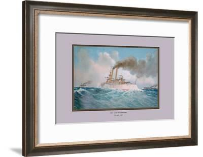 First-Class Battleship Iowa-Werner-Framed Art Print