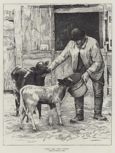 First Come, First Served-Edward R. King-Giclee Print
