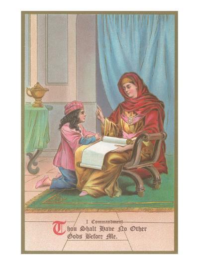 First Commandment Illustration--Art Print