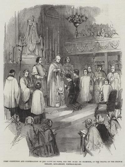 First Communion and Confirmation of the Count De Paris--Giclee Print
