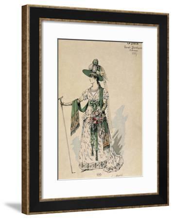 First Costume for Actress Sarah Bernhardt--Framed Giclee Print