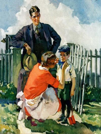 """First Day of School,""September 1, 1928-Haddon Sundblom-Giclee Print"