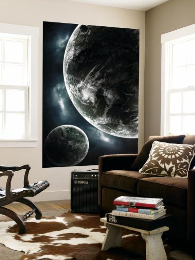 First Day on a Recently Colonized Earth-Like Planet-Stocktrek Images-Wall Mural