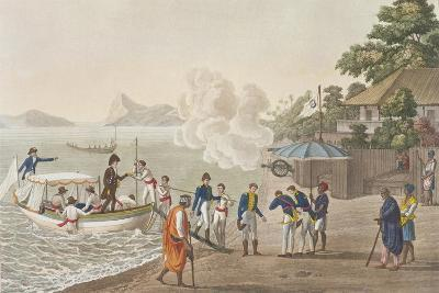 First Disembarkation of the French at the Portuguese Outpost at Dille-Felice Campi-Giclee Print