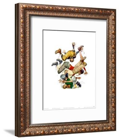 First Down-Norman Rockwell-Framed Art Print