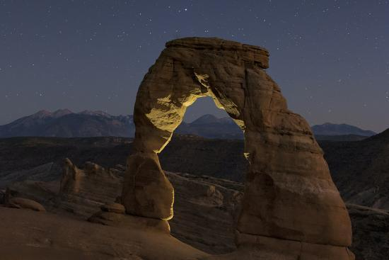 First Evening Stars Appear Above the Delicate Arch at Dusk-Babak Tafreshi-Photographic Print