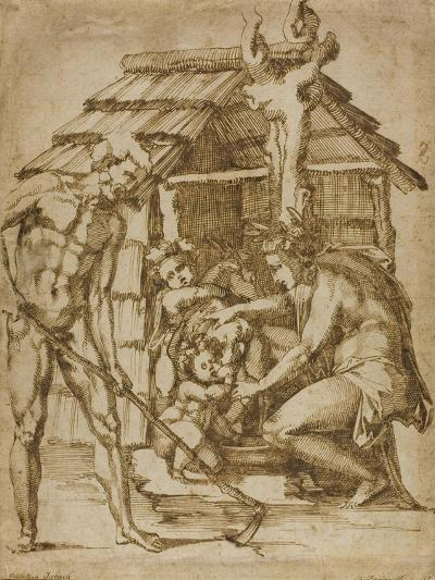 First Family before a Shelter, 1547-48-Baccio Bandinelli-Giclee Print