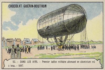 First German Hand-Powered Aluminium Military Balloon, 1897--Giclee Print