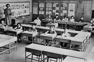 First Graders Undergo a 'Spot Check', Make Sure They Do Not Have Measles in 1961