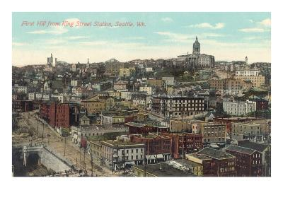 First Hill, King Street Station, Seattle, Washington--Art Print