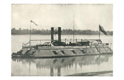 First Iron Clad Gunboat--Art Print