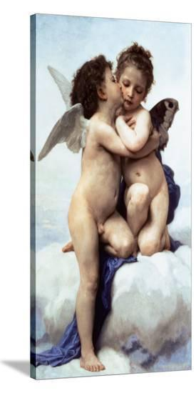 First Kiss-William Adolphe Bouguereau-Stretched Canvas Print