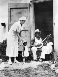 First Lady Eleanor Roosevelt Chatting with the Winn Family, of Christiansted, St Croix