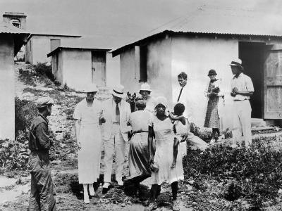 First Lady Eleanor Roosevelt Tours the Virgin Islands--Photo