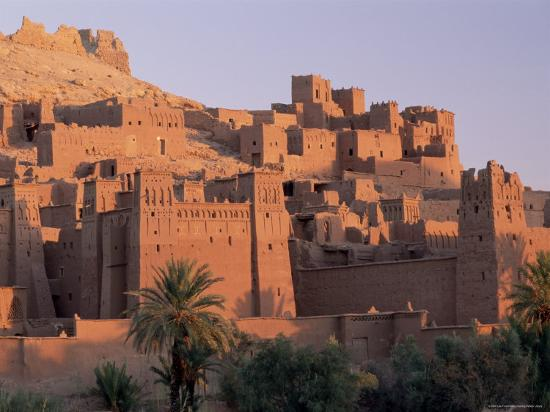 First Light on Fortified Mud Houses in the Kasbah, Ouarzazate, Morocco-Lee Frost-Photographic Print
