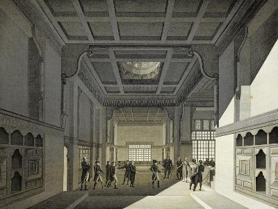 First Meeting of Institute of Egypt in Former House of Hasan Kachef in Cairo in 1798-Vivant Denon-Giclee Print