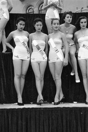 First Miss Universe Contest, Miss Hong Kong Judy Dan, Long Beach, CA, 1952-George Silk-Photographic Print