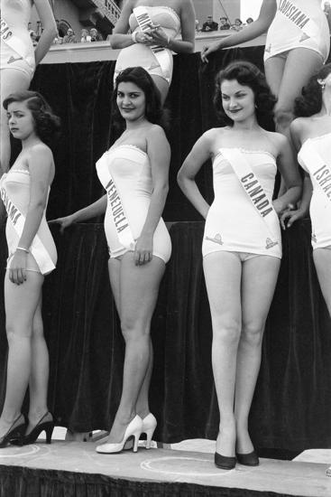 First Miss Universe Contest, Miss Venezuela and Miss Canada, Long Beach, CA, 1952-George Silk-Photographic Print