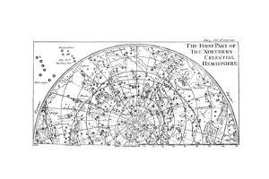 First Part of the Star Chart of the Northern Celestial Hemisphere Showing Constellations, 1747