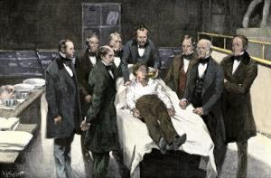 First Public Demonstration of Surgical Anesthesia, Massachusetts General Hospital, Boston, 1846