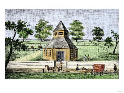 First Quaker Meeting-House in Burlington, New Jersey, a Hexagon Built in 1683--Giclee Print