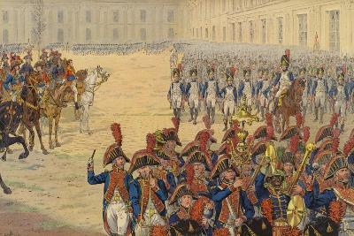 First Review of the Consular Guard on the Parade Ground at the Tuileries Palace--Giclee Print