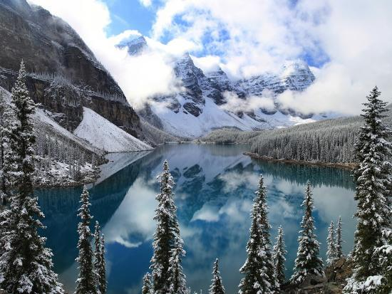 First Snow At Moraine Lake Banff Np Canadaby Jan Zwilling