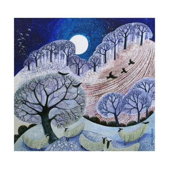 First Snow Surrey Hills-Lisa Graa Jensen-Giclee Print