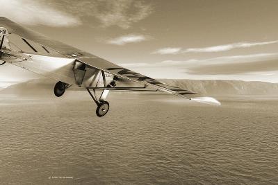 First Solo Transatlantic Flight, 1927-Detlev Van Ravenswaay-Photographic Print