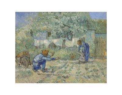 First Steps - After Millet, 1890-Vincent van Gogh-Art Print