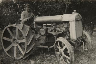 First Tractor-Russian Photographer-Photographic Print