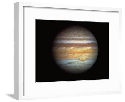 First True-Color Photo of Planet Jupiter Taken from Hubble Space Telescope--Framed Premium Photographic Print
