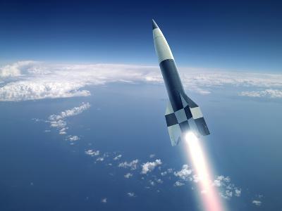 First V-2 Rocket Launch, Artwork-Detlev Van Ravenswaay-Photographic Print