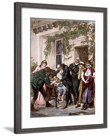 First Vaccination, 1796--Framed Photographic Print