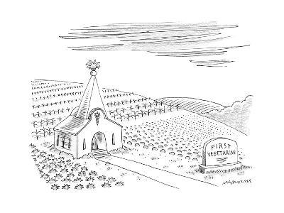 First Vegetarian church.  A pineapple instead of a cross at the steeple.  - New Yorker Cartoon--Premium Giclee Print