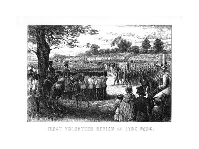 First Volunteer Review in Hyde Park, London, 1899--Giclee Print