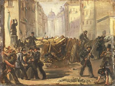 First War of Independence - 'Five Days of Milan'. Barricades at Porta Romana, March 1848--Giclee Print