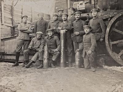 First World War: A Group of Belgian Artillery--Photographic Print