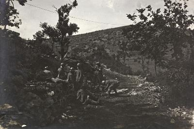 First World War: Group of Soldiers in a Medical Plateau of the Carso--Photographic Print