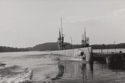 First World War: Naval Vessel Along the Dock of Ostend--Photographic Print