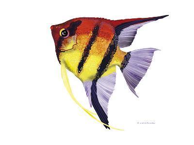 Fish 4 Red-Yellow-Olga And Alexey Drozdov-Giclee Print
