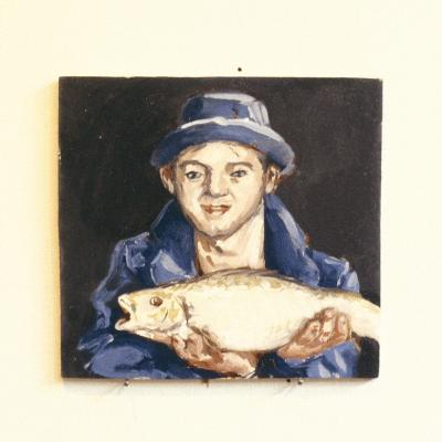 Fish-Boy-Robert Burkall Marsh-Giclee Print