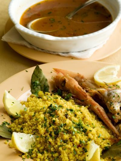 Fish Couscous, North African Dish, also a Speciality on the West Coast of Sicily-Olivier Cirendini-Photographic Print