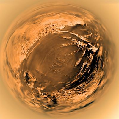 Fish-Eye View of Titan's Surface-Stocktrek Images-Photographic Print