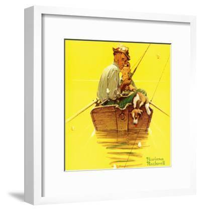 Fish Finders-Norman Rockwell-Framed Art Print