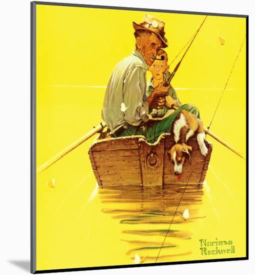 Fish Finders-Norman Rockwell-Mounted Art Print